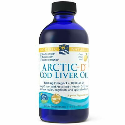 NORDIC NATURALS, ARCTIC-D COD LIVER OIL Vitamin D3 1060mg 237ml SUPER PREIS