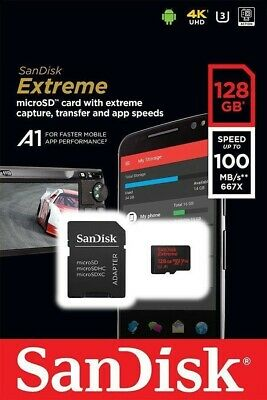 SanDisk 128GB U3 Extreme Micro SD SDXC Class 10 UHS-I Card 90MB For Go Pro Hero.