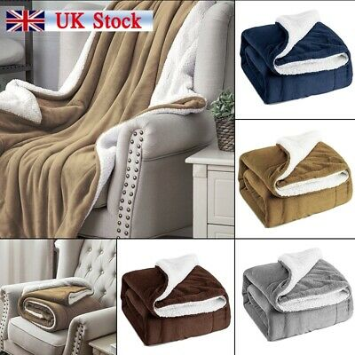 Bedsure Sherpa Blanket Fleece Throw Reversible Blanket for Bed and Couch New