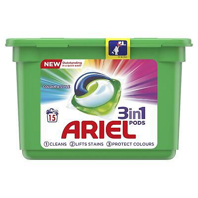 Ariel 3-in-1 Washing Pods Colour Liquitabs Laundry Detegent Capsules - 15 Washes