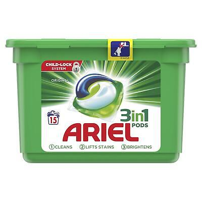 Ariel 3-in-1 Washing Pods Original Liquitabs Laundry Detegent Capsules 15 Washes