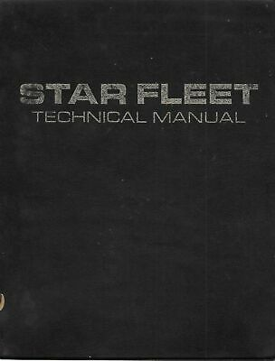 Star Trek Star Fleet Hardcover Technical Manual Book 1975 1st Print, No Insert