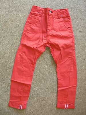 Next Boys Skinny Twist Chinos Red Age 6 Years BNWT   77/37