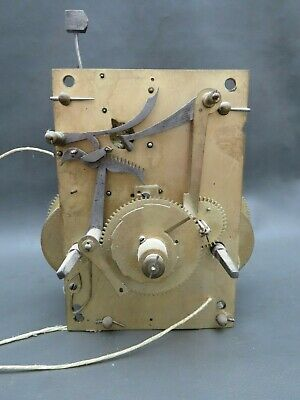 Antique Grandfather Longcase clock movement for repair spares or parts