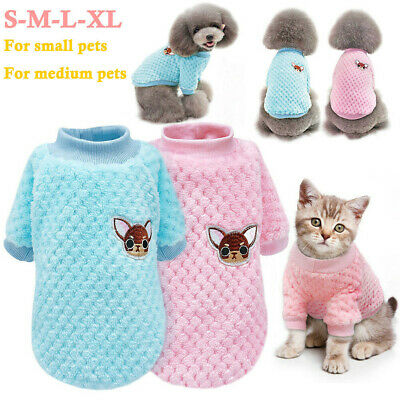 Dog Knitted Sweater Embroidery Chihuahua Clothes Pet Puppy Cat Jumper Knitwear