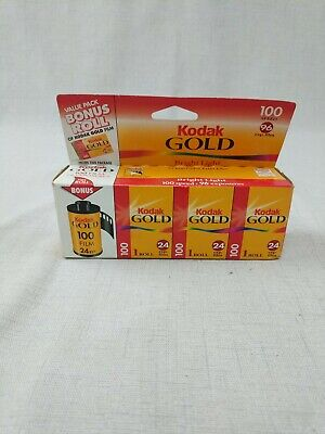 Pack of 4 Kodak Gold 100 35mm 24 Exp Film GA 135-24 Expired 04/2000