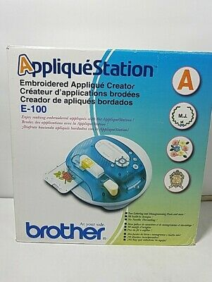 Brother Applique Station E100 Computerized Embroidery Creator With Designs A103