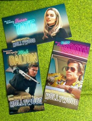 Once Upon A Time In Hollywood ODEON CINEMA CARDS Full Set of 3 Quentin Tarantino