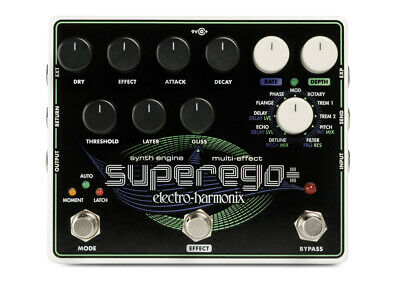 Electro-Harmonix Superego+ Synth Engine/Multi-Effect w/ Power Supply GENTLY USED