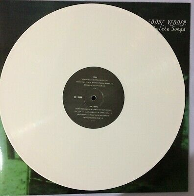 Eddie Vedder Ukulele Songs White Colored Vinyl Record Pearl Jam Ten VS