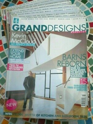 Grand Designs Magazines 2004  The First 10 Issues Rare