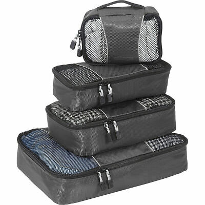 eBags Classic Packing Cubes - 4pc Small/Med Set Titanium Travel Organizer - NEW!