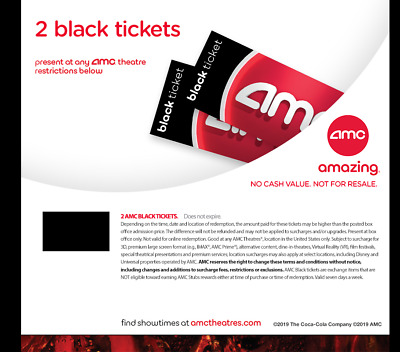 AMC Theaters - 2 Black Movie Tickets