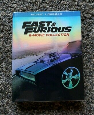 Fast and Furious: 8-Movie Collection (Blu-Ray & Digital HD; 2017) New Sealed