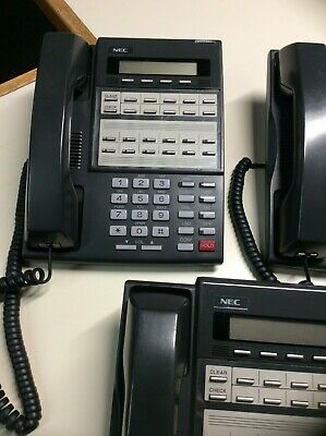 Lot of 3 pre-owned NEC DS1000/2000 business phones Part#: 80573