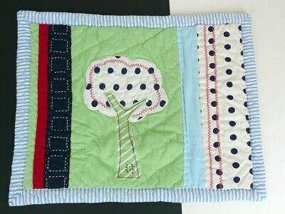 Pottery Barn Kids Pillow Sham NWT Tree Green Blue Quilted Cotton New