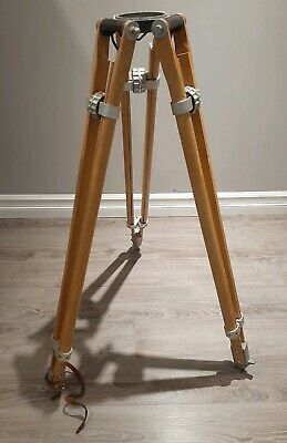 UNIVERSAL WOODEN TRIPOD IN GOOD WORKING CONDITION Large Industrial Tripod