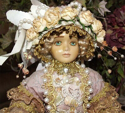 Antique Reproduction Australian Attic Doll Linda Carroll Monique Porcelain Nrfb