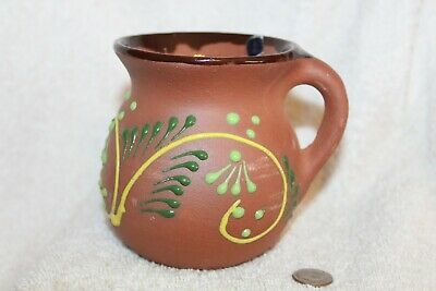 Mexican Hand glazed hand painted Terra Cotta Cup