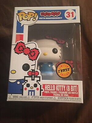 Funko Pop Sanrio Hello Kitty (8 Bit) 45th Anniversary Chase Vinyl Brand New