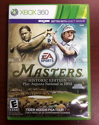 Masters Historic Edition Tiger Woods PGA Tour 14 Xbox 360 TESTED