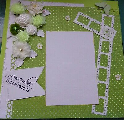 Beautiful Handmade 12 X 12 Scrapbook Page