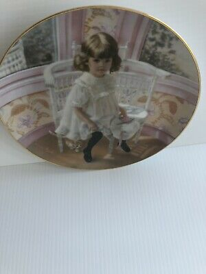 "Collector Plates Sandra Kuck, ""Easter at Grandma's 6th issue, no. 1054. DGB"