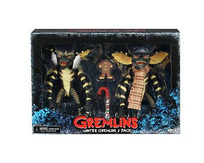 "Gremlins Christmas Carol Winter Scene 7"" Scale Action Figure Set NECA In Stock"