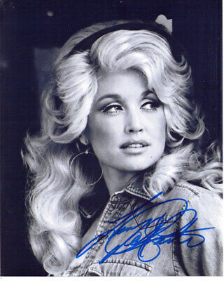 Dolly Parton Country Music Singer Signed 8X10 Photo With Coa