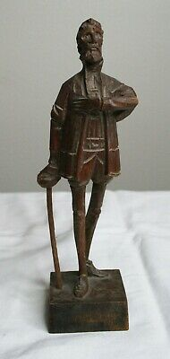 Vintage Ouro Artesania Don Quixote 580-0 Carved Wood Figure Made in Spain