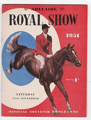 1951 Royal Adelaide Show OFFICIAL PROGRAMME