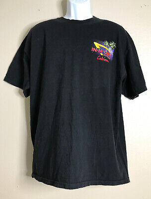 In N Out Men Size XL Black T Shirt Burger California Vintage Fast Food