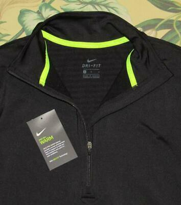 NIKE Pro Warm Infinity Black Pullover Training L//S Shirt NEW Womens Sz M