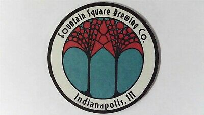 Fountain Square Brewing Co. Beer Coaster, Indianapolis, IN