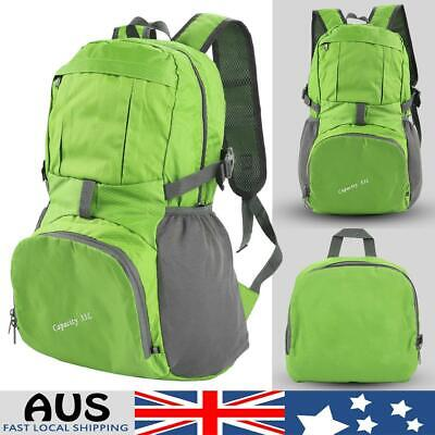 Foldable Backpack Waterproof Outdoor Sports Camping Hiking Travel School Bag