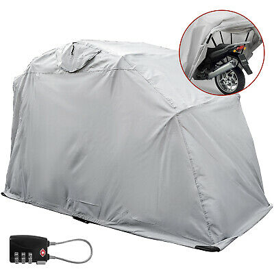 Heavy Duty Large Motorcycle Shelter Shed Storage Garage Cover Tent with lock