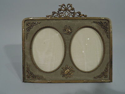 Antique Frame - Rococo Revival Picture Photo Double Dipytch - French Gilt Bronze