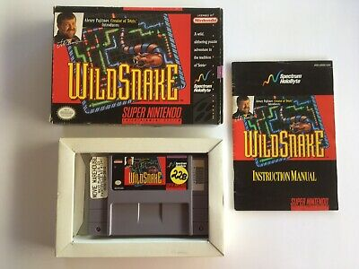 WildSnake (SNES) **Complete in Box**