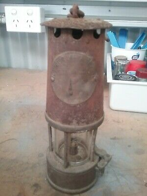 Miners lamp, Antique Welsh Coal Miners Cambrium Davy type Lamp ,unrestored
