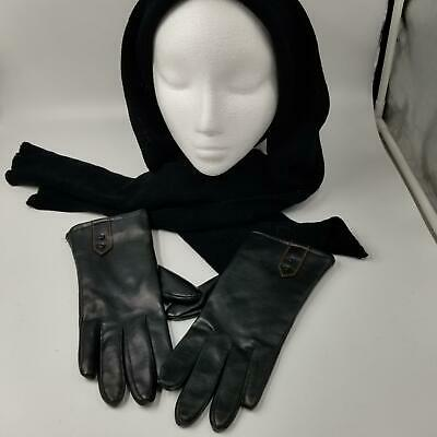 Chic Womens Gloves Size B Black One Size Hat Scarf Black Scotchguard 3M Lot 2