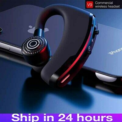 Bluetooth Headset Wireless Headphone V9 Earpiece Hands Free For Samsung iPhone