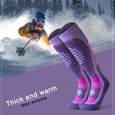 Ski Socks Winter Warm Men Women Outdoor Cycling Hiking Sports Thicker Thermo USA