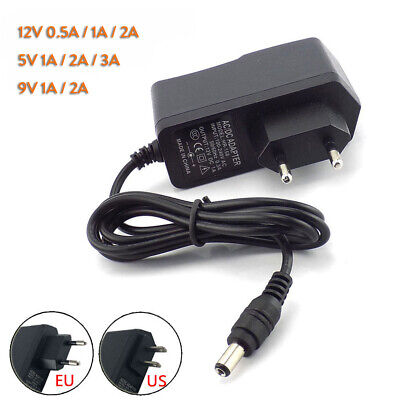 DC 5V 9V 12V 1A 2A 3A 0.5A Power Supply Adapter US EU Plug For LED Strip Light M