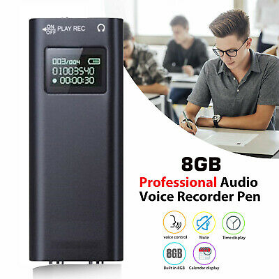 4/816/32GB Digital Rechargeable Audio Recorder Voice Activated Listening Device