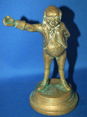 An antique brass Mr Pickwick character Dickens figure, Victorian, well cast