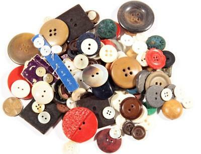 (150) Czech Vintage 1950's retro mixed size shape design plastic glass buttons