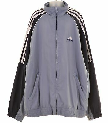 ADIDAS Boys Tracksuit Top Jacket 13-14 Years Blue Polyester  MV36