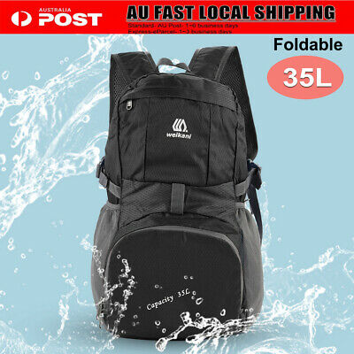 Foldable Waterproof Backpack Outdoor Camping Hiking Travel Rucksack School Bag
