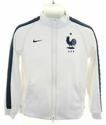 NIKE Girls Tracksuit Top Jacket 13-14 Years XL White Polyester  JX05
