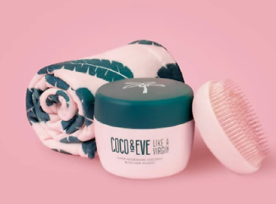 Coco & Eve Coconut and Fig Hair Masque tangle tamer Full & travel size, towel UK